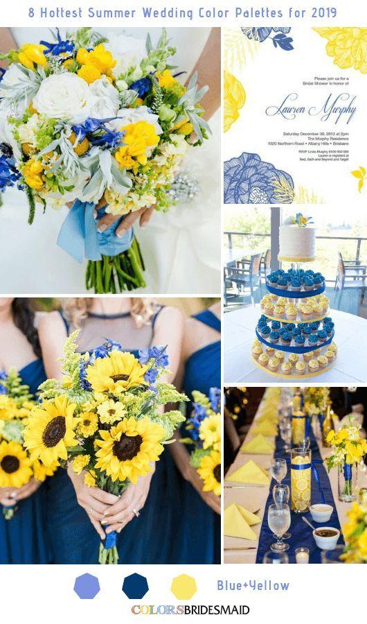 8 frisse en heetste zomer bruiloft kleurenpaletten voor 2019