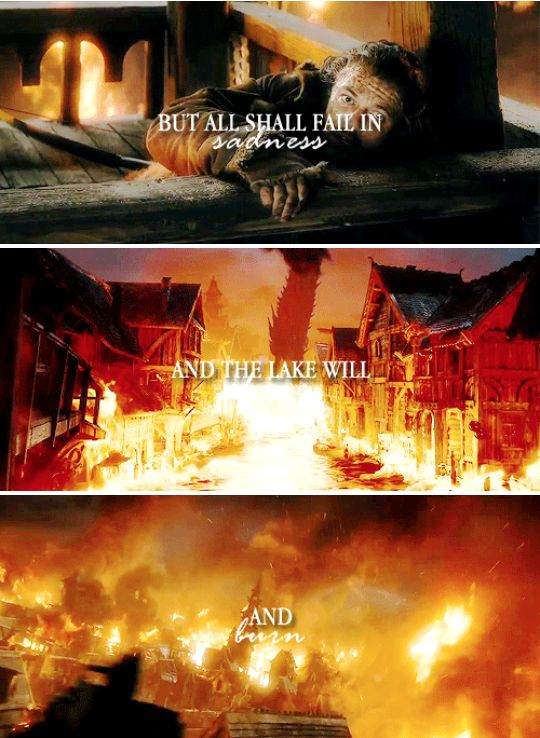 if this is to end in f i r e #thehobbit