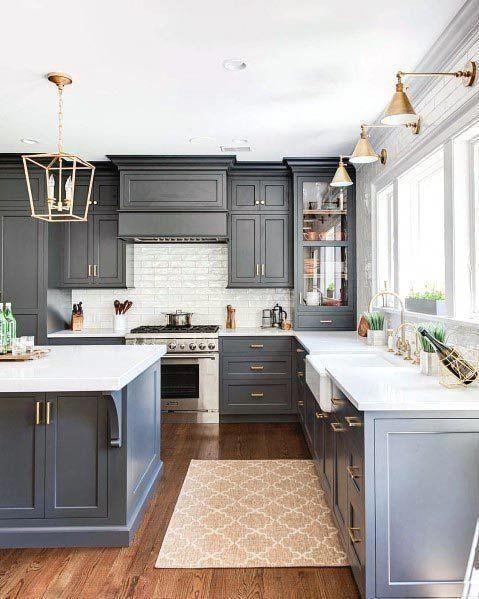Top 50 der besten Ideen für eine graue Küche – raffinierte ...
