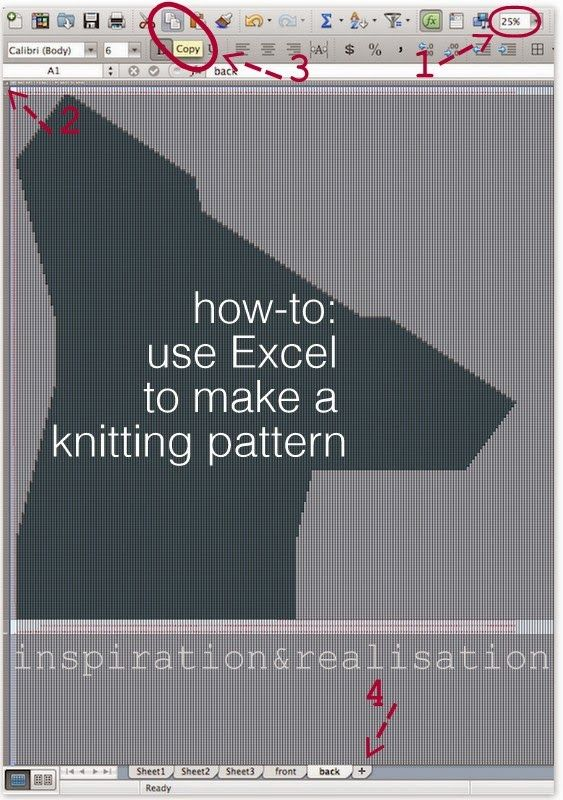 DIY - how to make a knitting pattern using Excel