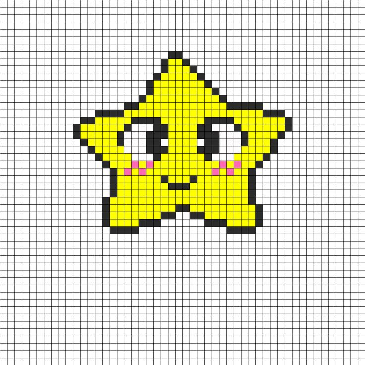 Happy Star Perler Bead Pattern