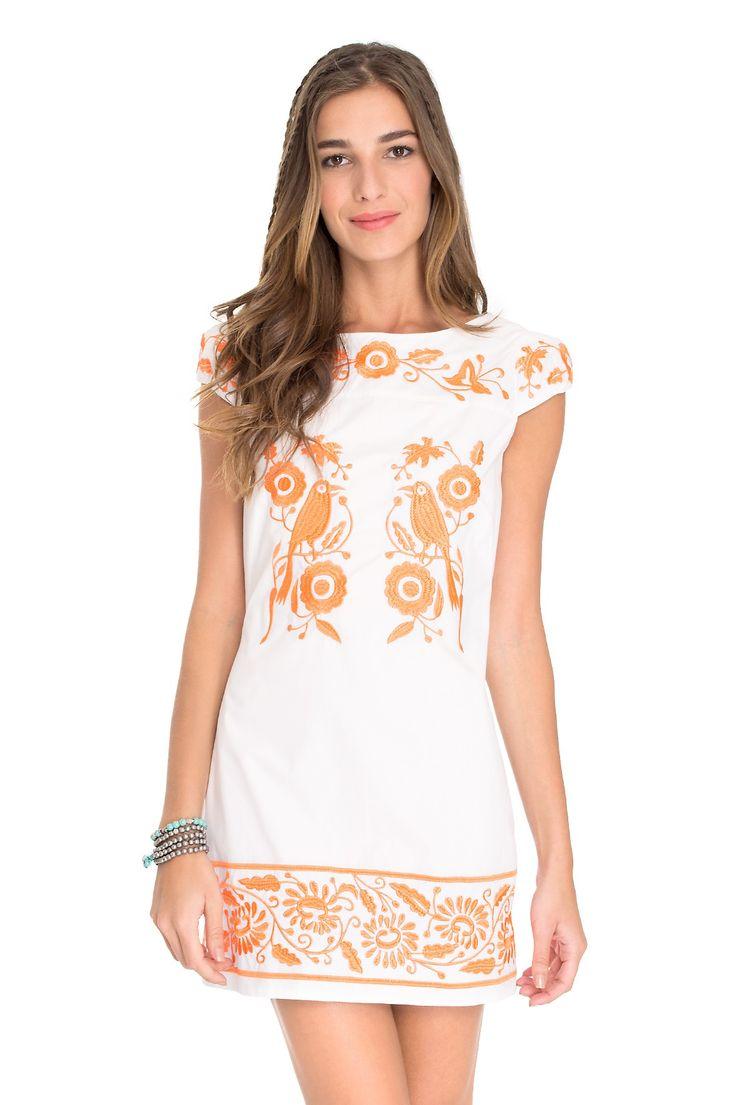 vestido maxi bordado mexicano - Vestidos   Dress to