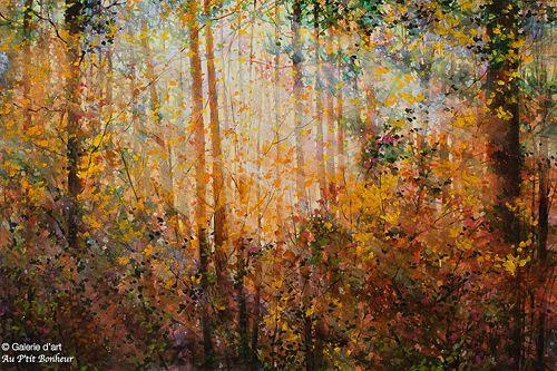 Bev Rodin, 'Autumn Morning', 28'' x 42'' | Galerie d'art - Au P'tit Bonheur - Art Gallery