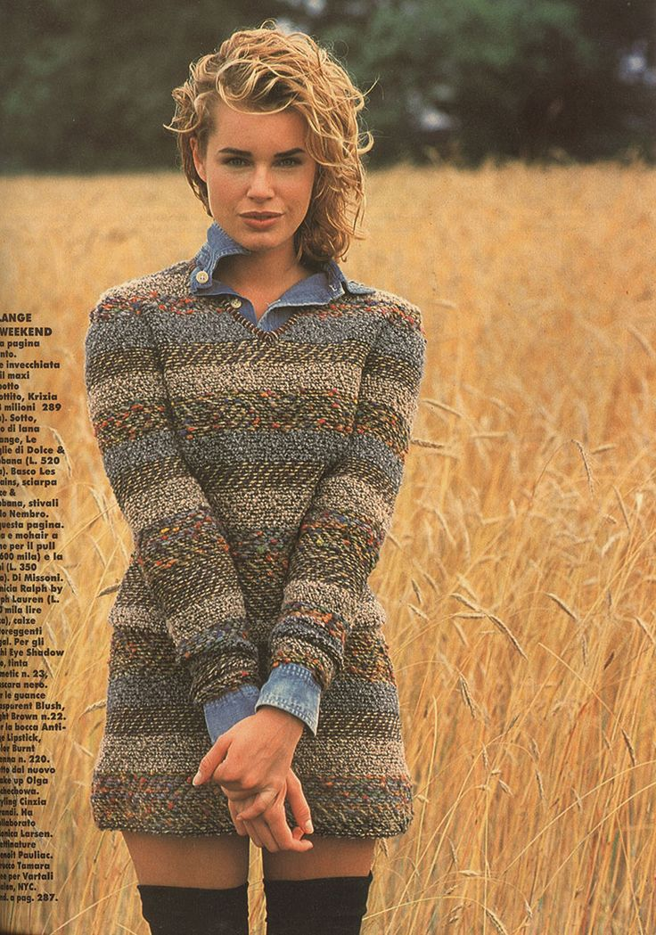90's Rebecca Romijn .......... I loved my thigh high socks in the 90's and HER HAIR