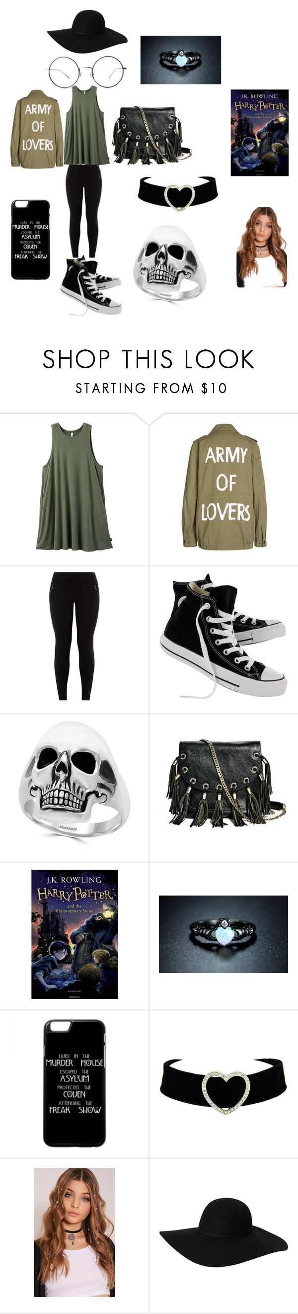 """something i would wear if i was skinny and pretty"" by trashcan-799 ❤ liked on Polyvore featuring RVCA, SET, New Look, Converse, Effy Jewelry, GUESS by Marciano, Sevil Designs and Monki"