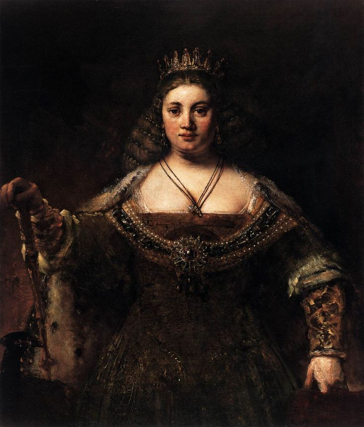 """Rembrandt, """"Juno"""" c. 1658, Oil on canvas, 127 cm x 106 cm, in Armand Hammer Collection, Los Angeles"""