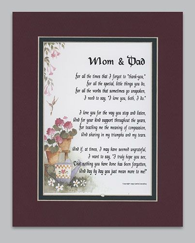 Parents Anniversary Poems From Daughter: 155 Best Images About Anniversary Gift Ideas On Pinterest