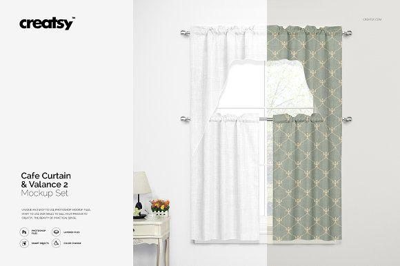 Valance Cafe Curtains Mockup Set 2 Cafe Curtains Curtains Design