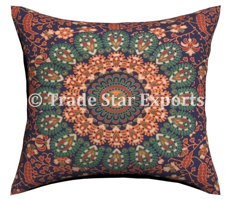 "Set Of 2 Indian Mandala Tapestry Sofa Cushion Cover 18X18"" Decorative Pillowcase"