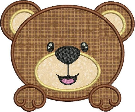 Sale 40 Off Cute Baby Bear Face Applique by embroiderydesignsavi, $1.80