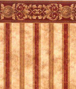 Wallpaper: Bourgogne Medallion Stripe IB831B