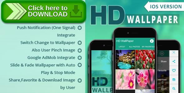 [ThemeForest]Free nulled download iOS HD Wallpaper from http://zippyfile.download/f.php?id=46574 Tags: ecommerce, admob, hd image, image, iOS app, ios hd wallpaper, material, slideshow, wallpaper, WallPaper App