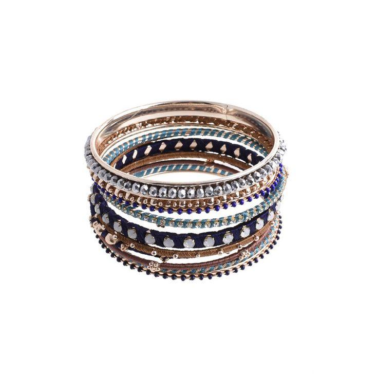 BRACELET BLACK-GOLD - Bracelets - Jewellery - Accessories