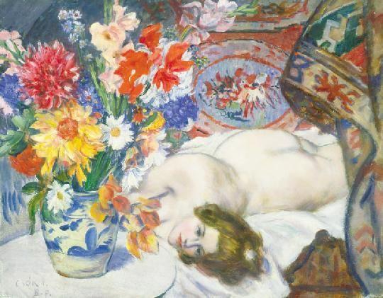 Csók, István (1865-1961) Atelier's corner