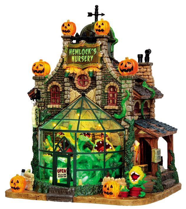 lemax 45661 hemlocks nursery spooky town lighted building halloween decor s o i - Miniature Halloween Decorations