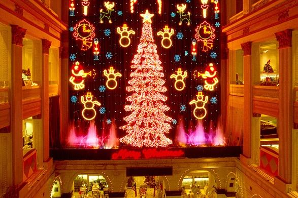 Wanamaker Christmas Light Show