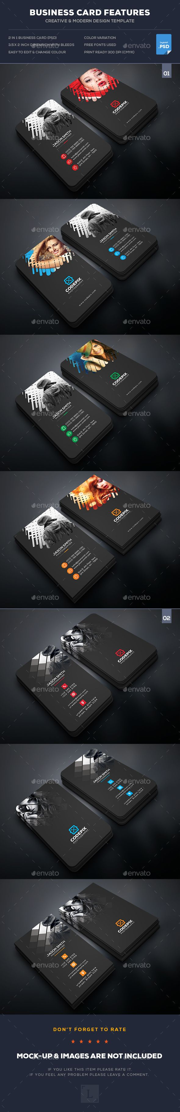 Photography Business Card Bundle Templates PSD. Download here: http://graphicriver.net/item/photography-business-card-bundle/16651909?ref=ksioks