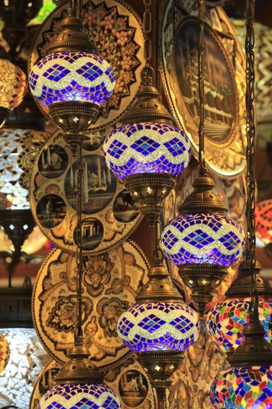 Turkish lamps | Lamp store in the Spice Market, Istanbul