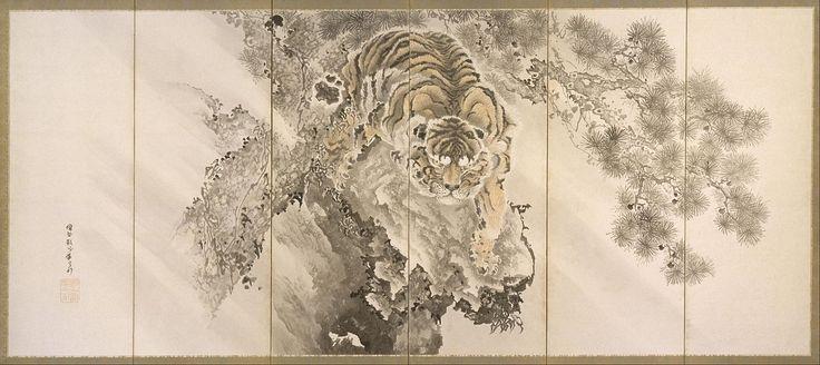 Ganku Kishi - Screen with Tiger. 170-1838. Japan. Edo period.