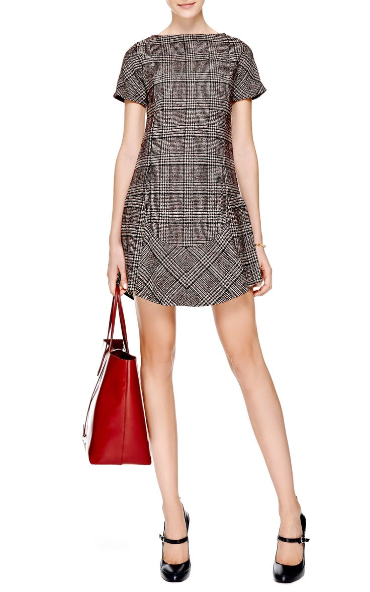 Prince Of Wales Wool-Blend Shift Dress by Carven - Moda Operandi - love the simplicity of this dress. Love Carven!