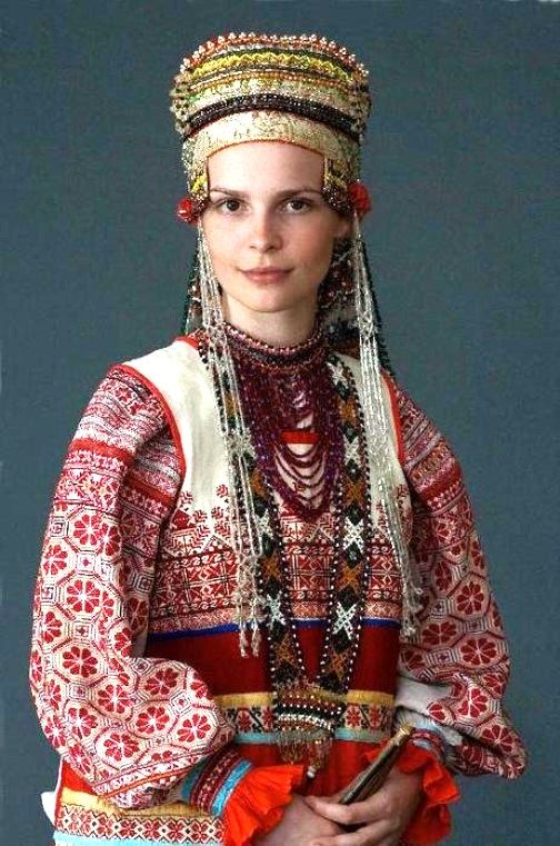 Russian folk costume; no creds found