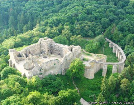 medieval Neamt citadel Moldova Romania cetatea neamtului