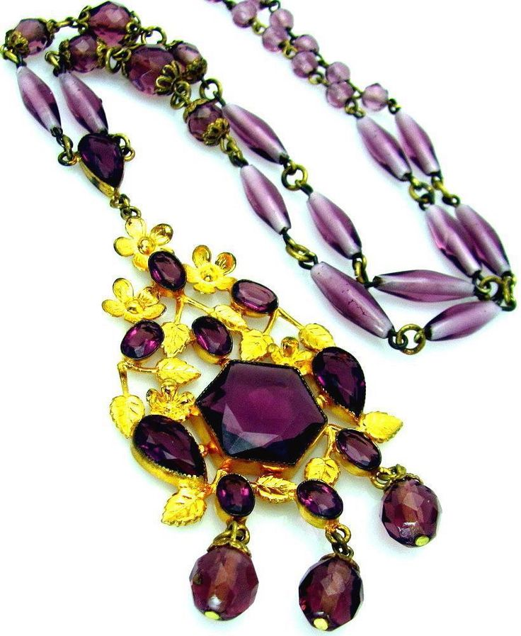 Amethyst Costume Necklace