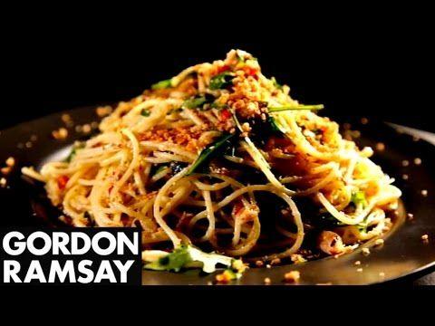 Spaghetti with Chilli, Sardines & Oregano - Gordon Ramsay - YouTube