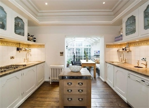 Kitchen White Solarium Window House London England Belgravia; how could you do a solarium in the garden area?