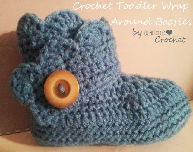 Quartered Heart Crochet: Free Crochet Pattern: Toddler Wrap Around Boots