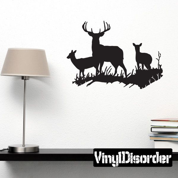 Family deer wall decal vinyl decal car decal 006