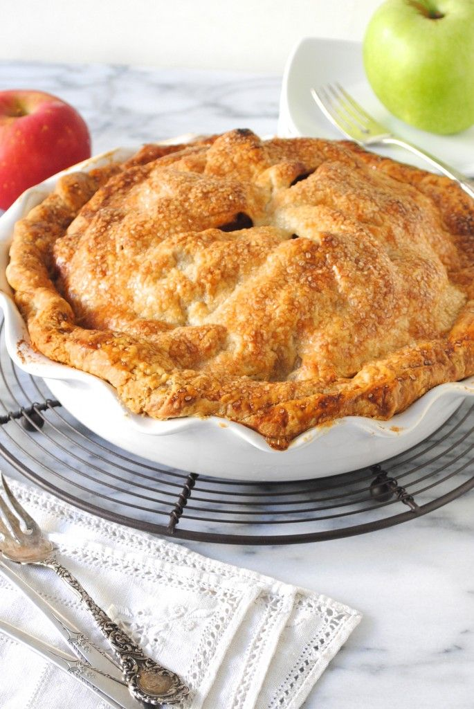 Everyone's favorite dessert is a Classic Apple Pie. This is an easy to make pie dough from scratch filled with a sweet and spiced fresh apple filling.