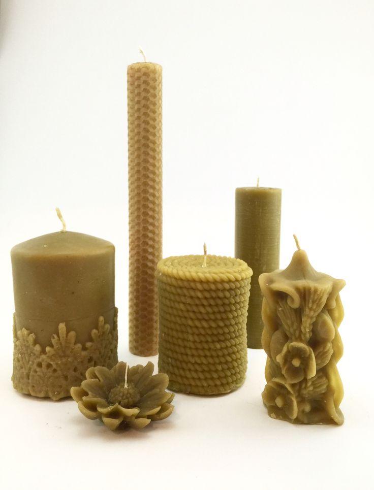 Эко-свечи из натурального пчелиного воска. Приятно пахнут медом, освежают атмосферу и обладают бактерицидным эффектом.