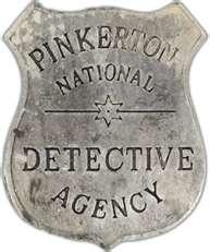 """Pinkerton Badge. """"La sagacidad de su esposa no había disminuido ni un ápice con el paso de los años. Con media sonrisa, pensó que, en el caso de que algún día el filón de las minas se agotara, no tendrían problemas para sobrevivir si ella ofrecía sus servicios a la Agencia Pinkerton..."""" DAMA DE TRÉBOLES, capítulo 4 http://oliviaardey.blogspot.com/"""