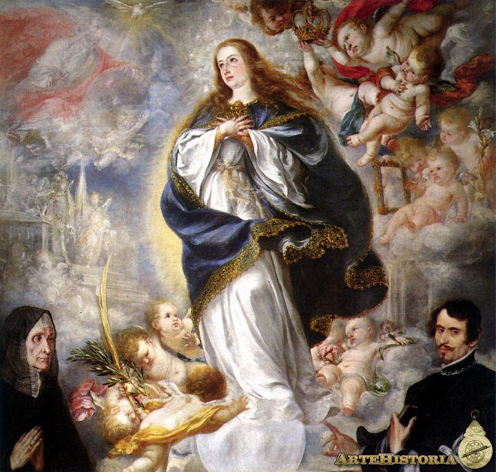Juan Valdés Leal: Inmaculada Concepción con dos donantes. 1656. National Gallery Londres.