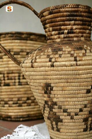 lavorazione dei cesti in asfodelo, basketry in Asphodel