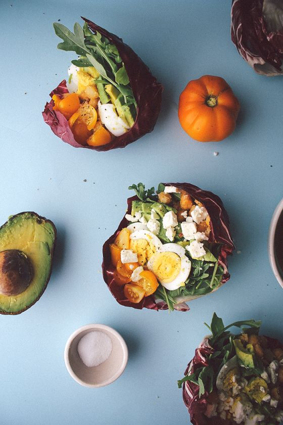 Vegetarian Chickpea Cobb Salads