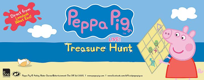 Peppa Pig Live! Treasure Hunt - QUT Gardens Theatre, 2 George Street, Brisbane - Tickets