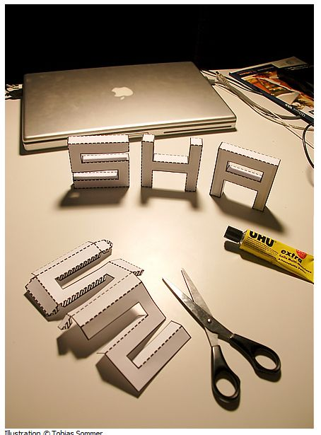 Downloadable font, Punched Out, you can make 3D letters.