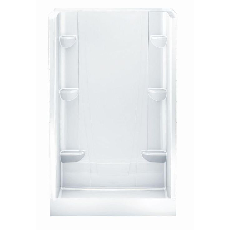 Aquatic A2 34 in. x 48 in. x 76 in. Shower Stall in White-4834CS-AW at The Home Depot