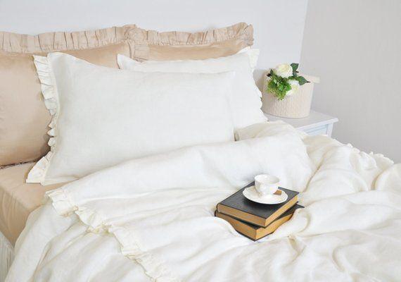 Linen Duvet Cover Set In Twin Twin Xl Pure Linen Bedding Etsy Pure Linen Bedding Farmhouse Style Bedding Duvet Cover Sets
