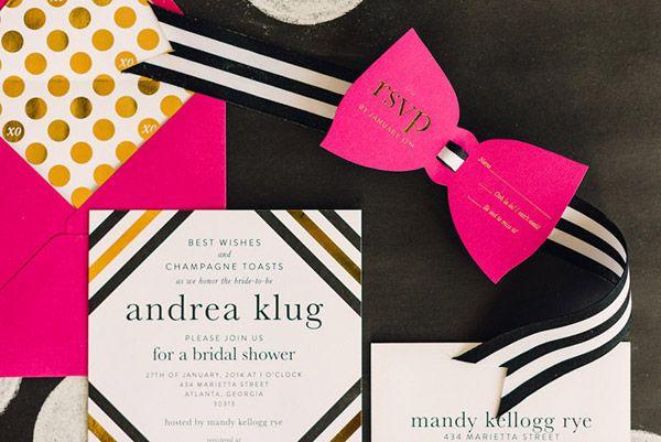 A Bridal Brunch With Kate Spade New York - Custom Designed Invite by #flairdesignery