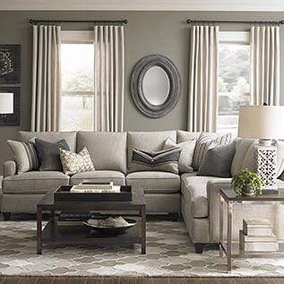 Custom Upholstered L Shaped Sectional By Bassett Furniture Design Your Own Specifying A Frame Size Arm Base Cushion And Back Styles