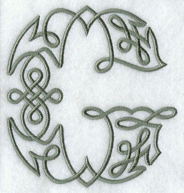 Celtic Knotwork Letter G - 5 Inch