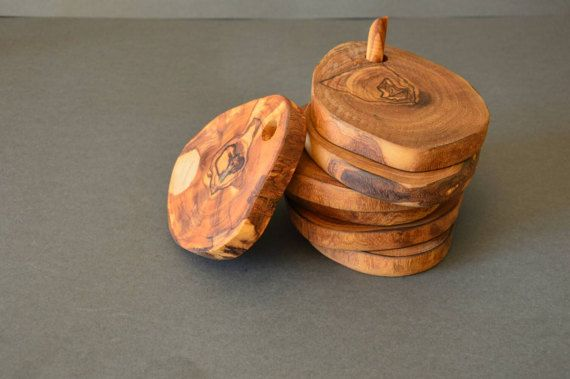 Check out this item in my Etsy shop https://www.etsy.com/listing/496357134/coasters-set-of-6-pieces-from-olive-wood