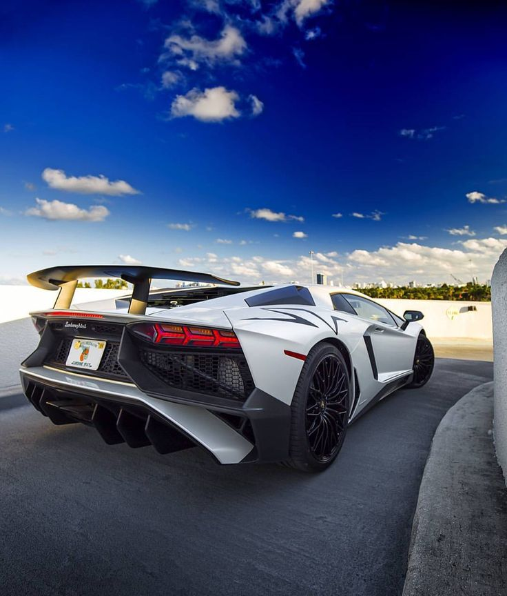 Lamborghini Aventador Super Veloce Coupe Painted In Balloon White Photo Taken By