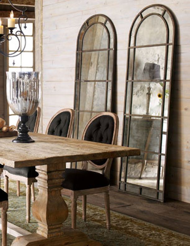 rustic mirrors on wall in dining room mirrors that i