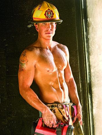 topless girl fireman hot
