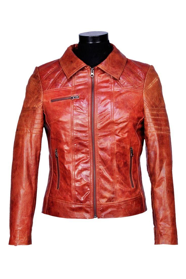 Leather jacket online australia - Buy Tan Leather Jackets For Women Latest Bareskin Fashionable Ladies Leather Jacket Online In India