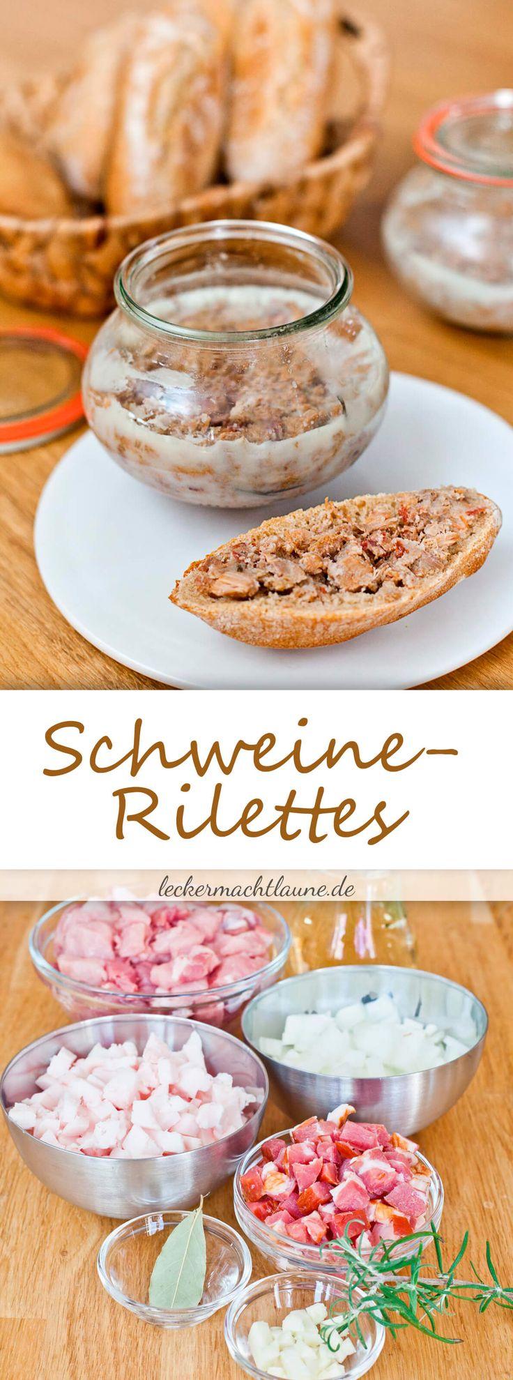 Schweine-Rilettes {französischer Brotaufstrich}